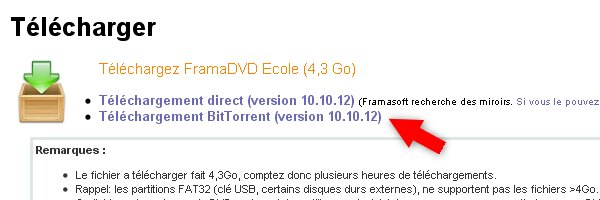 framasoft torrent Télécharger le FramaDVD Ecole via torrent