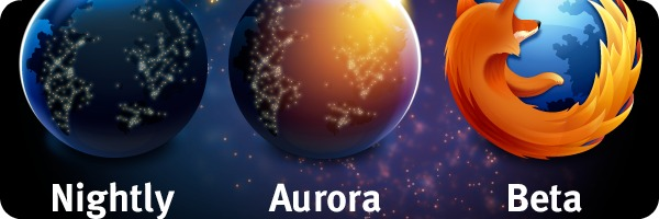 aurora nighly beta logos